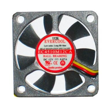 Evercool Fan 45x45x10 mm 3 Pin Fan-EC4510M12CA - Coolerguys