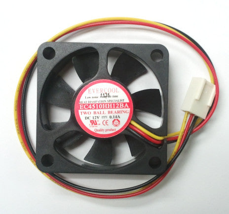 Evercool Fan 45x45x10mm Dual Ball Bearing #EC4510HH12BA