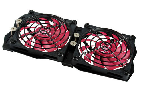 Evercool RVF-2F Universal VGA Cooler Replacement w/ Dual 80mm Fan - Coolerguys