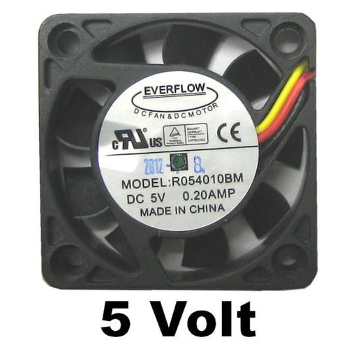 Everflow 40x40x10mm Dual Ball Bearing 5 volt Fan #R054010BM Med - Coolerguys