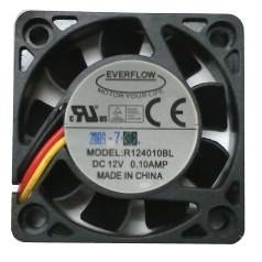 Everflow 40X40X10mm  Low Speed Ball Bearing 3 pin Fan-R124010BL - Coolerguys
