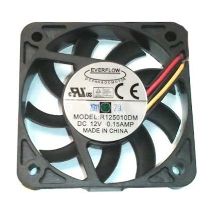 Everflow 50X50X10mm Medium Speed Ball Bearing 3 Pin Fan-R125010DM - Coolerguys