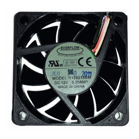 Everflow 60x15mm 12 volt Med speed 3 Pin fan #R126015BM