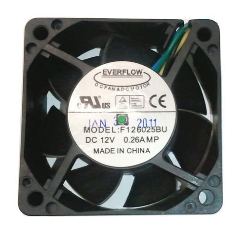 Everflow 60X60X25mm Dual Ball Bearing PWM Fan F126025BU AF - Coolerguys
