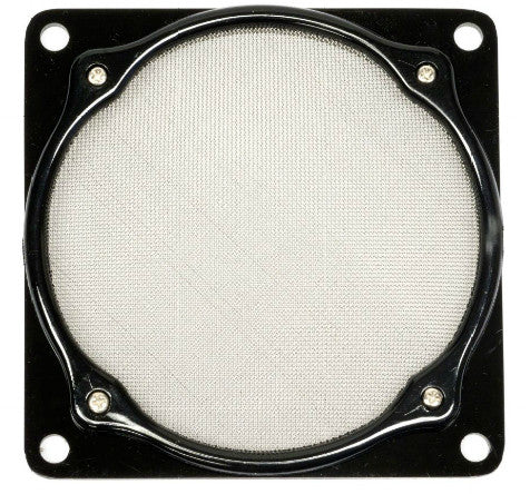 ModRight Fine Mesh 120mm Square Design Aluminum Fan Filter Black - Coolerguys