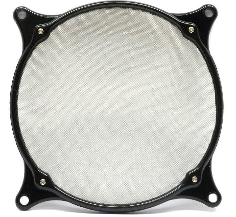 ModRight Fine Mesh 140mm Aluminum Fan Filter Black - Coolerguys