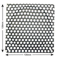 (garage item) Black Mesh 120mm Honeycomb Grill