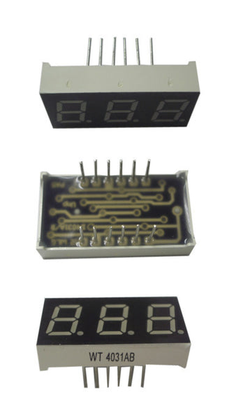 (Garage Sale Item) Blue LED block -3-digit 7-segment  #WT4031AB
