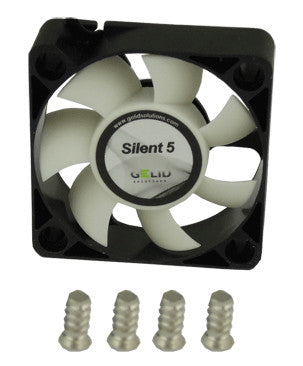 Gelid Silent5 Case Fan 50x50x15mm Fan with 3 pin connector #FN-SX05-40