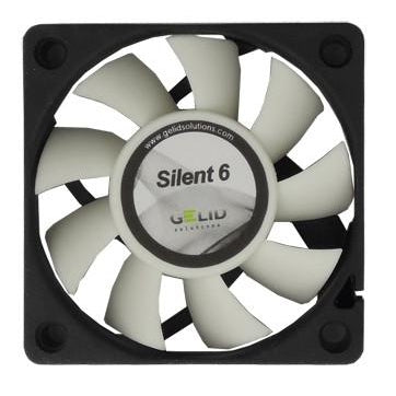 Gelid Silent6 Case Fan 60x60x15mm Fan with 3 Pin Connector-FN-SX06-38 - Coolerguys
