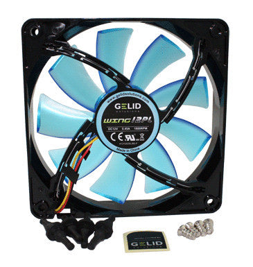 Gelid Wing 12 120x120x25mm PL Silent PWM Fan with LED FN-FW12BPL-18