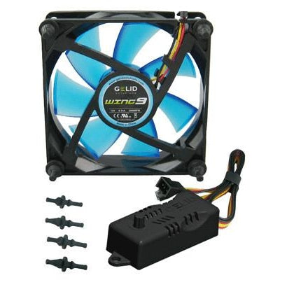Gelid Wing 9 92x92x25mm Gamer Fan Blue FN-FW09-20-B - Coolerguys