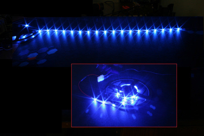 HT 60 LED Flexible Light Strip 78 inch 12 volt Blue - Coolerguys