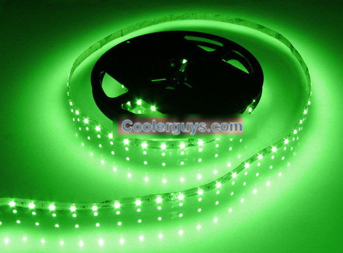HT 60 LED Double Density 39 inch (1M) Long Flexible Light Strip 12 volt Green - Coolerguys