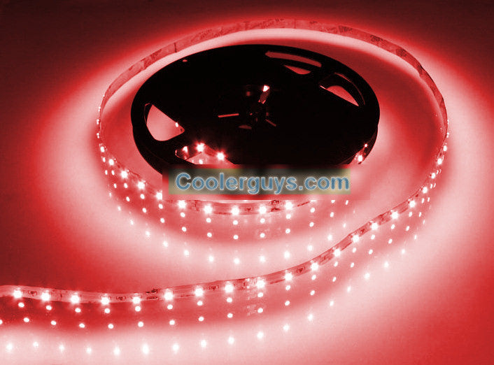 HT 60 LED Double Density 39 inch (1Meter) Long Flexible Light Strip 12 volt Red - Coolerguys