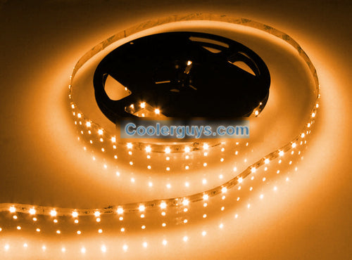 HT 60 LED Double Density 39 inch or 78 inch Long Flexible Light Strip 12 volt Yellow - Coolerguys