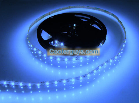 HT 60 LED Double Density 78 inch(2M) or 197 inch(5M) Long Flexible Light Strip 12 volt Blue