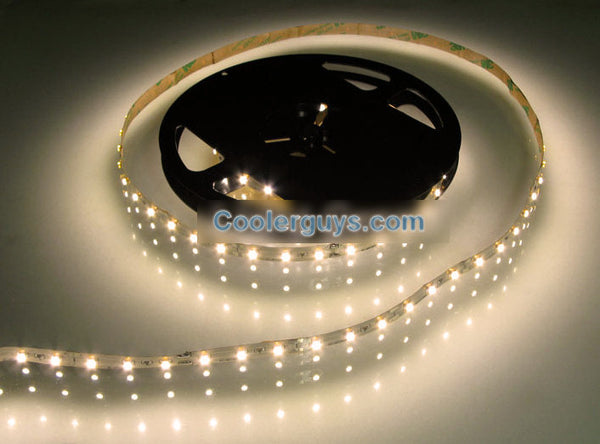 HT 60 LED Double Density 78 inch(2M) or 197 inch(5M) Long Flexible Light Strip 12 volt Warm White 3200K