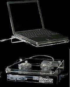 Ibreeze Notebook Cooler Acrylic / USB powered