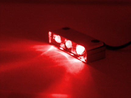 Lamptron Lazer 3 LED Red Spread light - Coolerguys