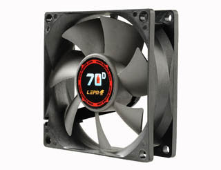 LEPA 80 x 25mm Fan with BOL Bearing and Variable Speed Adapter  #LP-70D08R