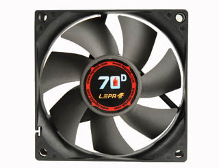 LEPA 80 x 25mm Fan with BOL Bearing and Variable Speed Adapter  #LP-70D08R - Coolerguys