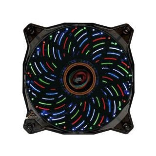 LEPA Casino 4 Color LED 120 x 25mm Fan w/ PWM Control  #LPVC1C12P-BL
