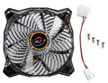 LEPA 120x120x25mm Casino Blue Spiral LED Fan w/ PWM Control LPVC1C12P-BL - Coolerguys