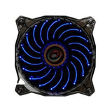 LEPA Casino Blue Spiral LED 120 x 25mm Fan w/ PWM Control  #LPVC1C12P-BL
