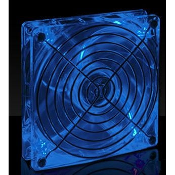 Lian Li 120x120x25mm Crystal Fan with Blue LED CF-1212A - Coolerguys