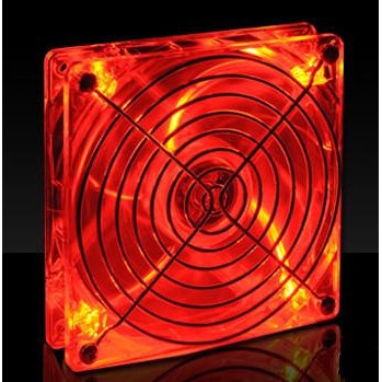 Lian-Li 120x120x25mm Crystal Fan with Red LED CF-1212R - Coolerguys