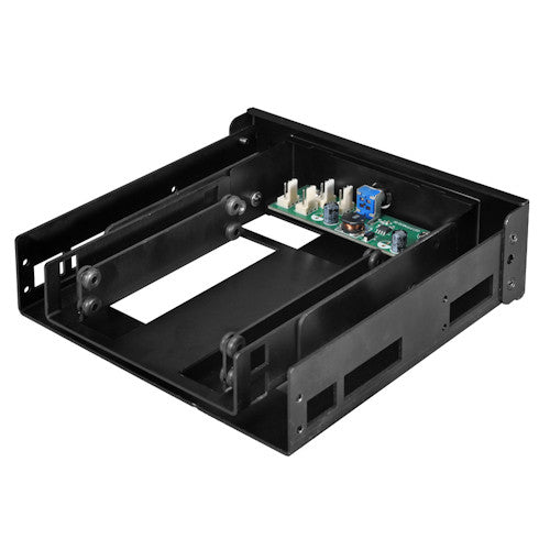 Lian Li 5.25 Fan Speed Controller & Internal 2.5 inch HDD Mounting Kit Model : PT-FN06B (Black)