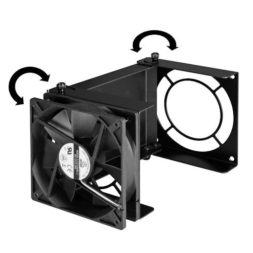 Lian Li Aluminum air duct w/ 120mm fan AD-06B(Black) - Coolerguys