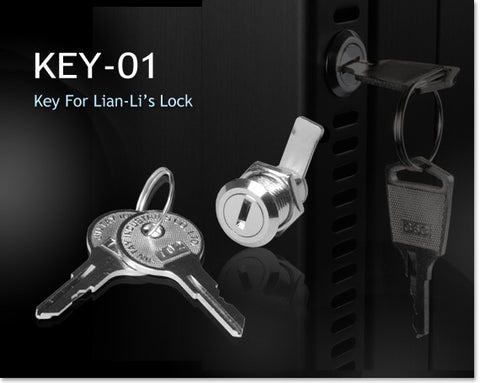 Lian Li Case Replacement Lock and Keys #Key-01