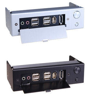 Lian Li Multi-Media Port with Power switch  Model: BZ-U01  Silver / Black