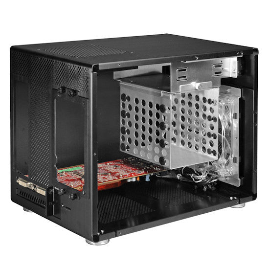 Lian-li PC-Q08B Lian-li Case Mini Tower  Black Aluminum USB3.0
