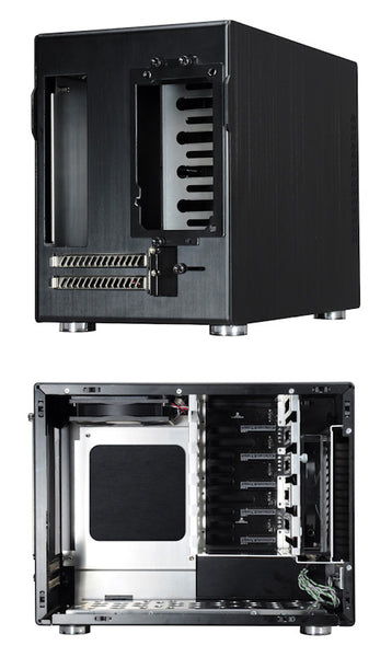 LIAN LI PC-Q25B Aluminum Mini-ITX Tower Computer Case Black