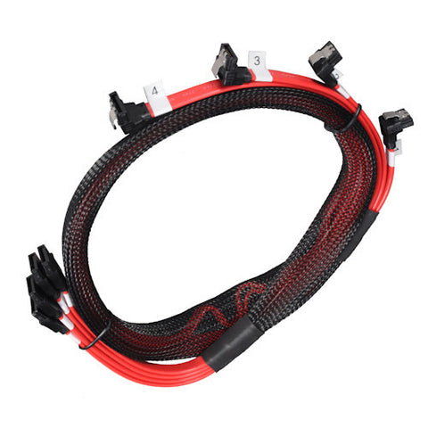 Lian Li Serial ATA Cable Set SATA-LT90-4R-  RED