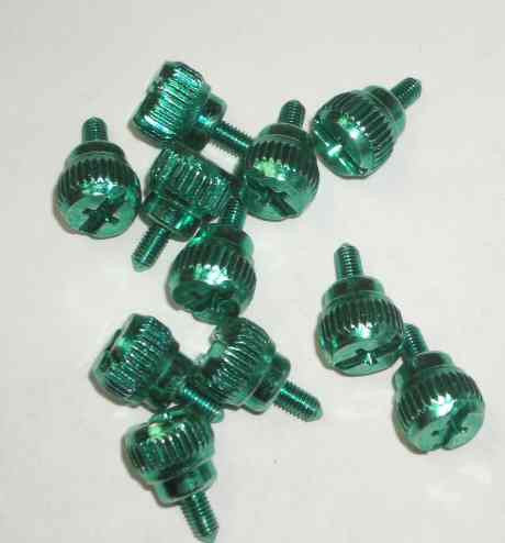 Lian Li Thumb Screws -- Green  (Sets of 4) - Coolerguys