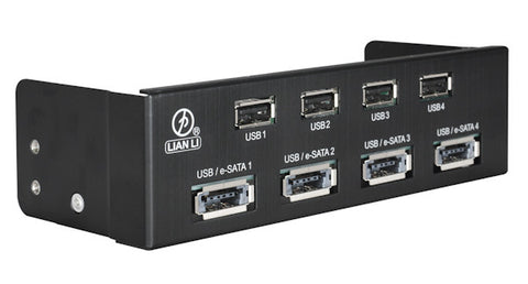 Lian Li USB 2.0 HUB / High-speed Port /Power e-SATA Combo HS Port: BZ-U06B (Black)