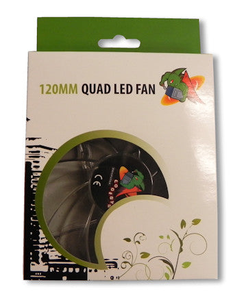 Logisys 120mm Green Quad LED Case Fan  Model #: CF120GN