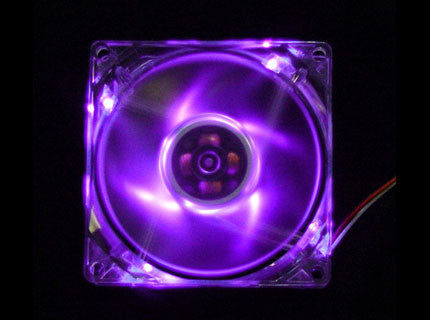 Logisys  4-LED Purple 80x80x25mm 12V FAN  LT400PL