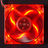 Logisys  4-LED RED 80mm CASE FAN  Model #: LT400RD