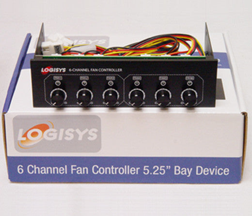 Logisys 6 Channel Fan Controller Bay Device FP600BK