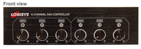 Logisys 6 Channel Fan Controller Bay Device FP600BK - Coolerguys