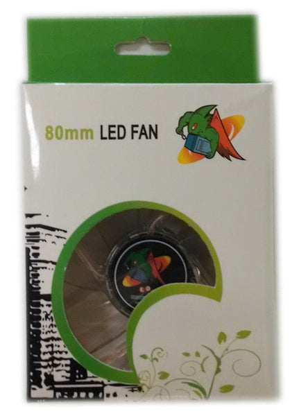 Logisys 80mm Quad Blue LED Crystal Fan (4 LED)