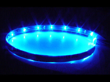 Logisys Blue 12 inch 12Volt Waterproof LED Strip # LDS12BL - Coolerguys