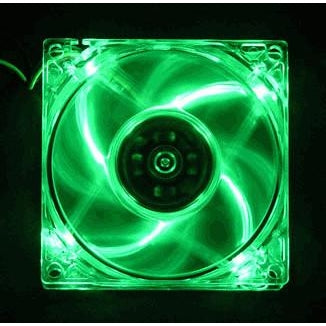 Logysis  80x80x25 4-LED Green Case Fan-LT400GN - Coolerguys