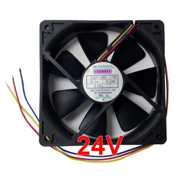 Mechatronics 120x120x25mm 24 volt Low speed fan w/Locked Rotor Alarm Signal #G1225L24B2-FSR