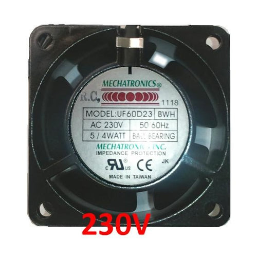 Mechatronics 60x60x30mm AC 230V Fan UF60D23-BWHR - Coolerguys